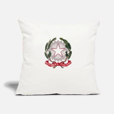 "Insignia Italy Coat of Arms - Italian Emblem - Throw Pillow Cover 18"" x 18"""