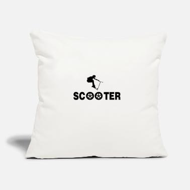 "Scooter Scooter scooter electric scooter e-scooter gift - Throw Pillow Cover 18"" x 18"""