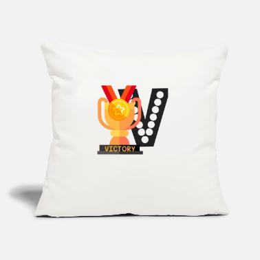 "Victory VICTORY - Throw Pillow Cover 18"" x 18"""