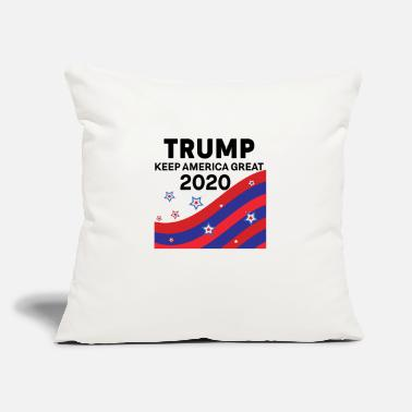 "Eagle Trump 2020 keep America great - Throw Pillow Cover 18"" x 18"""