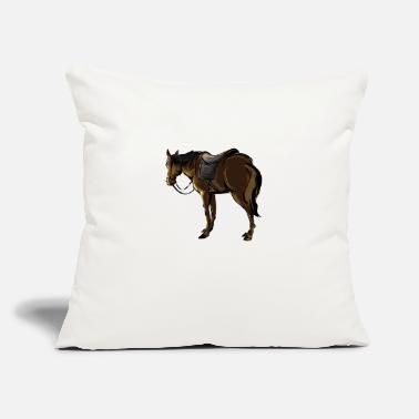 "Saddle The Horse With A Saddle - Throw Pillow Cover 18"" x 18"""
