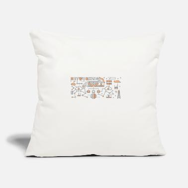 "Trending Line Art Design - Throw Pillow Cover 18"" x 18"""