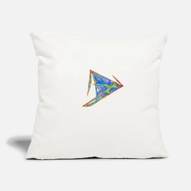 "Physics Watercolor art graphic painting picture 7103jet - Throw Pillow Cover 18"" x 18"""