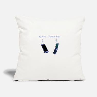 "Phone My phone grandpa's phone - Throw Pillow Cover 18"" x 18"""