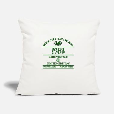 "Rugby A Welsh Legend 1983 - Throw Pillow Cover 18"" x 18"""