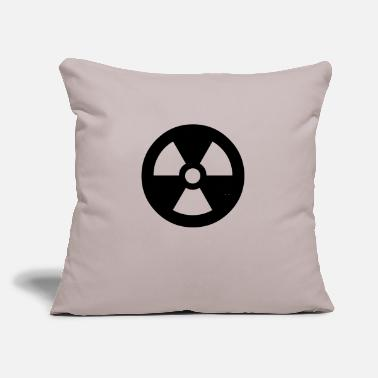 "Nuclear Symbol - Throw Pillow Cover 18"" x 18"""