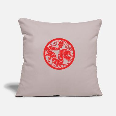 "Chinese New Years - Zodiac - Year of the Dragon - Throw Pillow Cover 18"" x 18"""