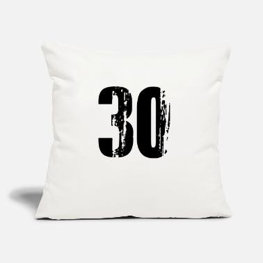 "30 - Number - Throw Pillow Cover 18"" x 18"""