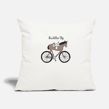 "Saddle saddle up - Throw Pillow Cover 18"" x 18"""
