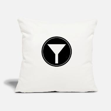 "Funnel Funnel vectorized - Throw Pillow Cover 18"" x 18"""