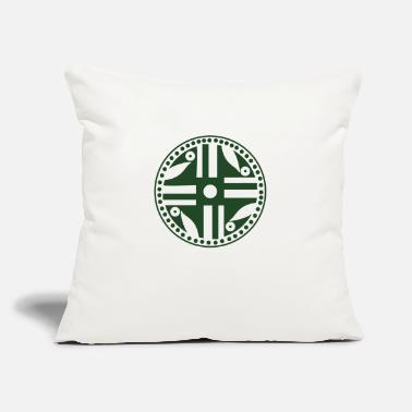 "Grafic quimbaya coin grafic - Throw Pillow Cover 18"" x 18"""