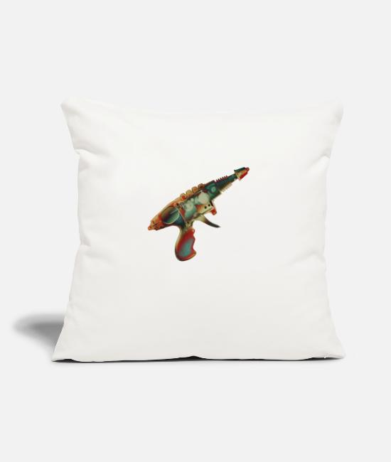 "Geeky Pillow Cases - Raygun1 No.2 - Throw Pillow Cover 18"" x 18"" natural white"