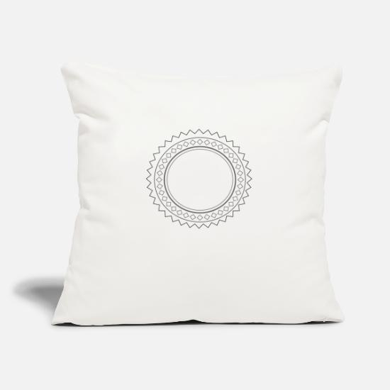 "Folk Pillow Cases - folk sun - Throw Pillow Cover 18"" x 18"" natural white"