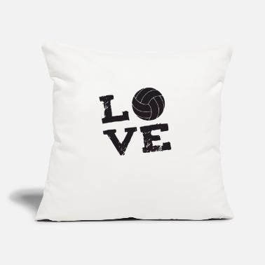"Volley volley love - Throw Pillow Cover 18"" x 18"""