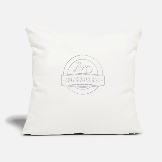 "Clean Pillow Cases - Movers Clean 1 - Throw Pillow Cover 18"" x 18"" natural white"