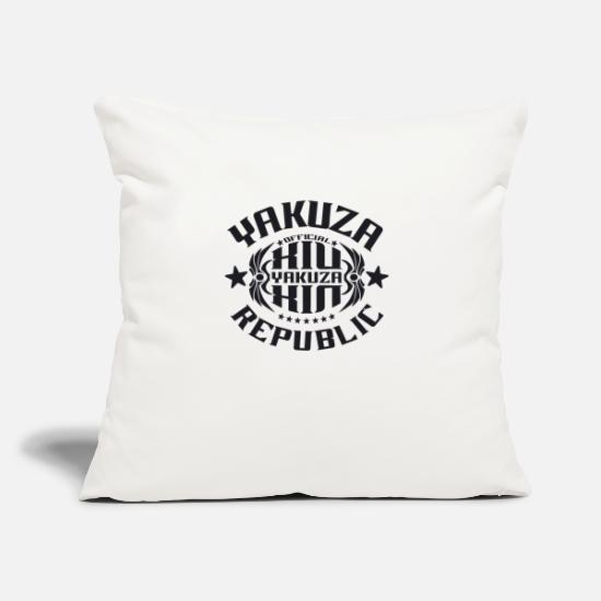 "Official Pillow Cases - YAKUZA 14 FULL black - Throw Pillow Cover 18"" x 18"" natural white"
