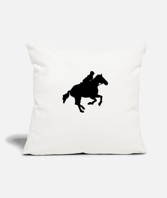 "Gallop Pillow Cases - gallop - Throw Pillow Cover 18"" x 18"" natural white"