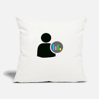 "Statistics user statistics - Throw Pillow Cover 18"" x 18"""