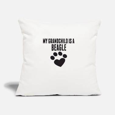 "Grandchild my grandchild is a beagle - Throw Pillow Cover 18"" x 18"""