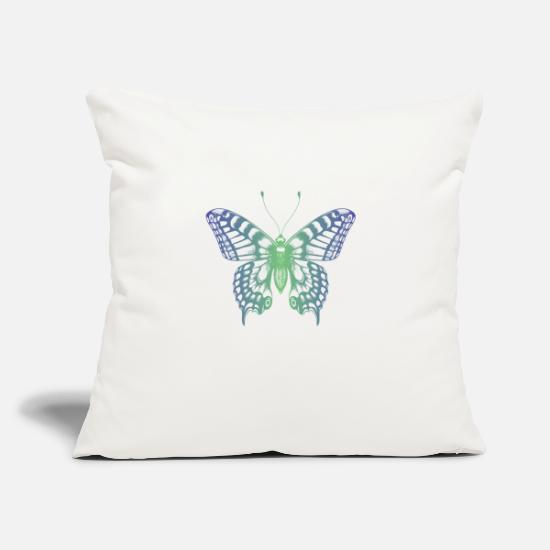 "Butterfly Pillow Cases - Colourful butterfly - Throw Pillow Cover 18"" x 18"" natural white"