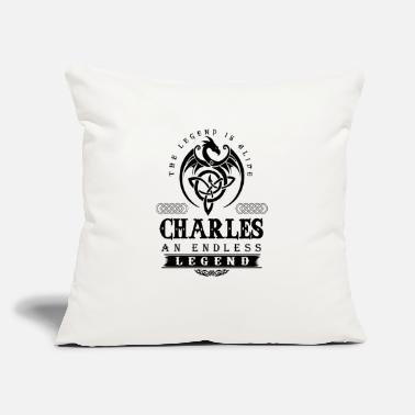 "Charles CHARLES - Throw Pillow Cover 18"" x 18"""