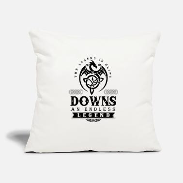 "Down DOWNS - Throw Pillow Cover 18"" x 18"""