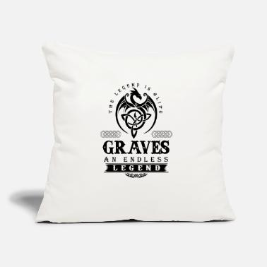 "Grave GRAVES - Throw Pillow Cover 18"" x 18"""