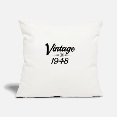 "Vintage 1948 VINTAGE 1948 - Throw Pillow Cover 18"" x 18"""