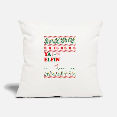 "Christmas Merry Christmas Ya Elfin My Pointer - Throw Pillow Cover 18"" x 18"""