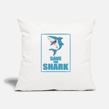 "Save The Sharks Shark Fish Animal Save the Shark - Throw Pillow Cover 18"" x 18"""