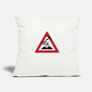"Road Sign Road Sign - Throw Pillow Cover 18"" x 18"""