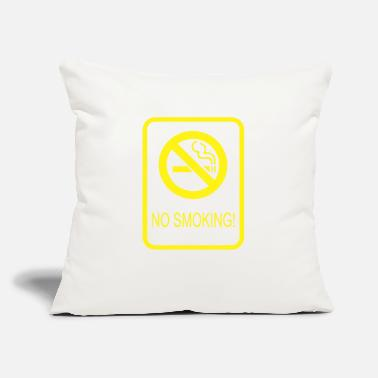 "Smoking No Smoking - Throw Pillow Cover 18"" x 18"""