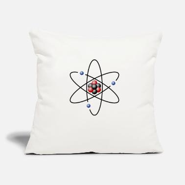"Atom atom model - Throw Pillow Cover 18"" x 18"""