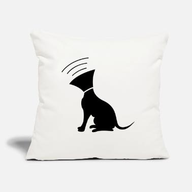 "Funnel Dog with funnel - Throw Pillow Cover 18"" x 18"""