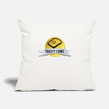 "Toasty The Toasty Chins - Throw Pillow Cover 18"" x 18"""