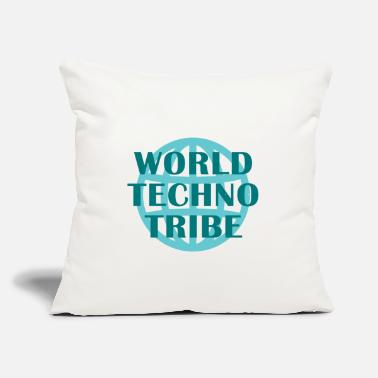 "Guitarist World techno tribe music gift raving concert - Throw Pillow Cover 18"" x 18"""