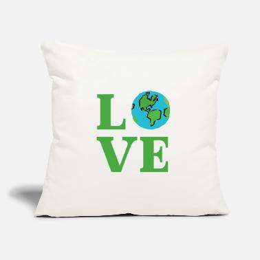 "World Earth Day World Planet Green Environment Shirt - Throw Pillow Cover 18"" x 18"""