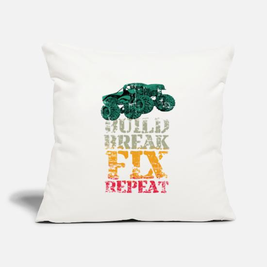 "Truck Pillow Cases - Monster Truck - Throw Pillow Cover 18"" x 18"" natural white"