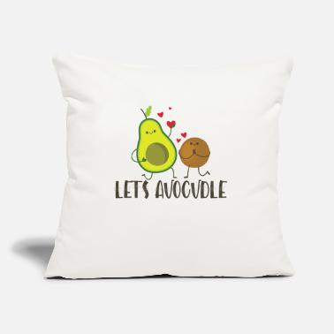 "Avocadobread Let's Avocudle - Throw Pillow Cover 18"" x 18"""