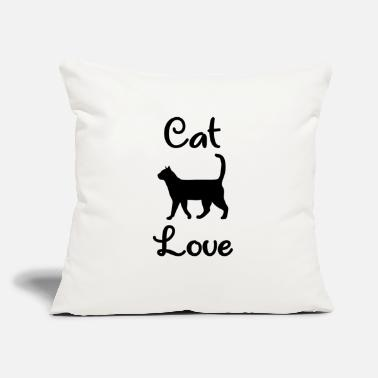 "House Tiger Cat Love - Kitten - House Tiger - Throw Pillow Cover 18"" x 18"""