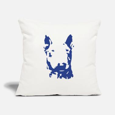 "Blue Bullterrier - Throw Pillow Cover 18"" x 18"""