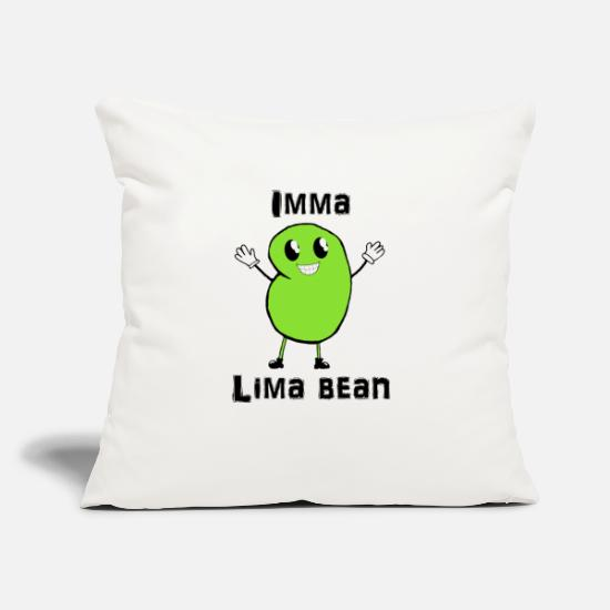 "Lima Pillow Cases - Imma Lima Bean - Throw Pillow Cover 18"" x 18"" natural white"