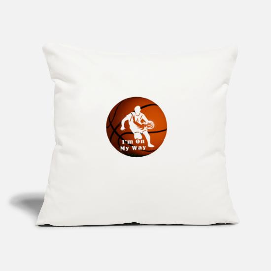 "Girl Pillow Cases - Basketball Player Pro In The Making! - Throw Pillow Cover 18"" x 18"" natural white"