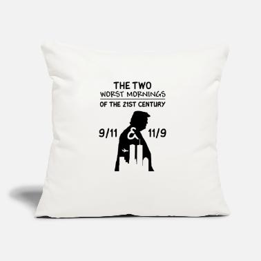 "The two worst morning of the 21st century mug - Throw Pillow Cover 18"" x 18"""