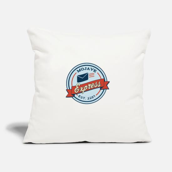 "Post Pillow Cases - Mojave Express - Throw Pillow Cover 18"" x 18"" natural white"