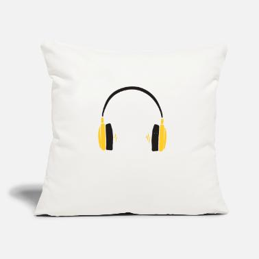 "Yellow Yellow Headset - Throw Pillow Cover 18"" x 18"""