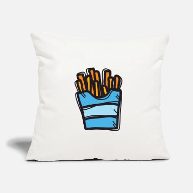 "Fries French fries - Throw Pillow Cover 18"" x 18"""