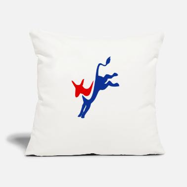 "Democrat Democrat - Throw Pillow Cover 18"" x 18"""