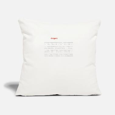"Font Dangerous Font - Throw Pillow Cover 18"" x 18"""