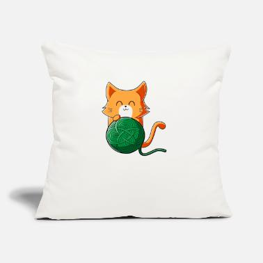 Wool Cat Celtic Knot Wool - Throw Pillow Cover